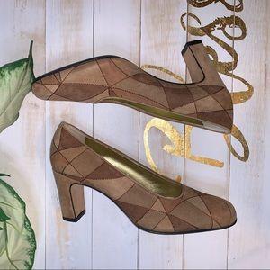 Pancaldi Calfhair Patent Heels